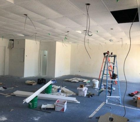 Commercial Drop Cieling Potlight Wiring Installation Photo 1
