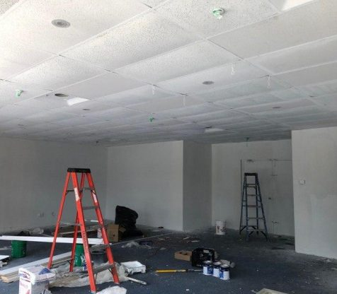 Commercial Drop Cieling Potlight Wiring Installation Photo 3