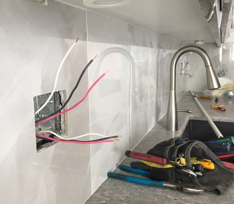 Kitchen Electrical Wiring Photo 4